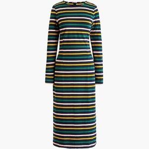 JCREW | classic striped cotton blend dress